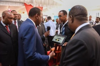 PRESIDENT KENYATTA TOURING THE INNOVATION VILLAGE KICC