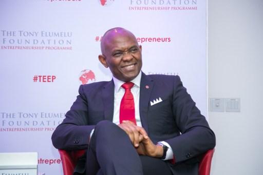 Tony Elumelu at the Entrepreneurship Programme Launche in December, 2014