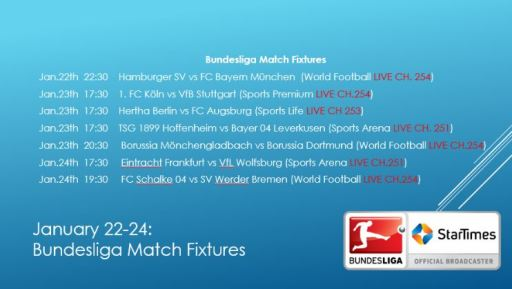 Bundesliga Action Resumes This Weekend on StarTimes TV JUUCHINI