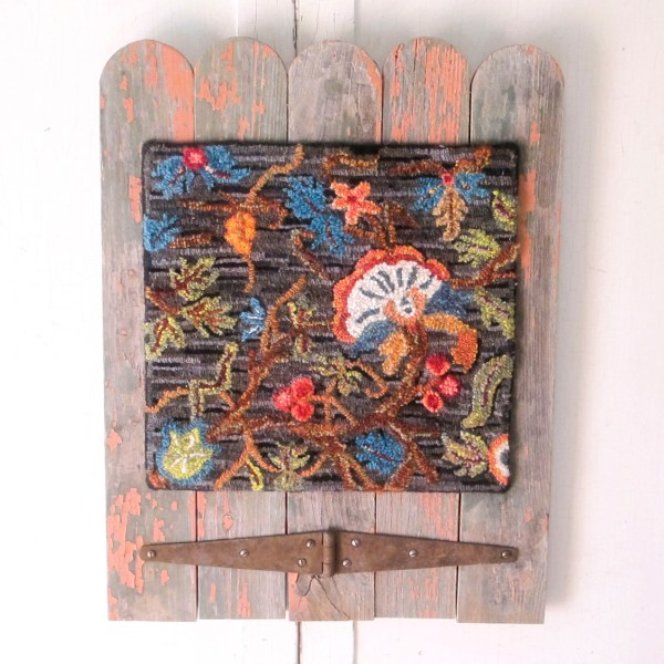 The Jacobean Hooked Rug Wall Hanging