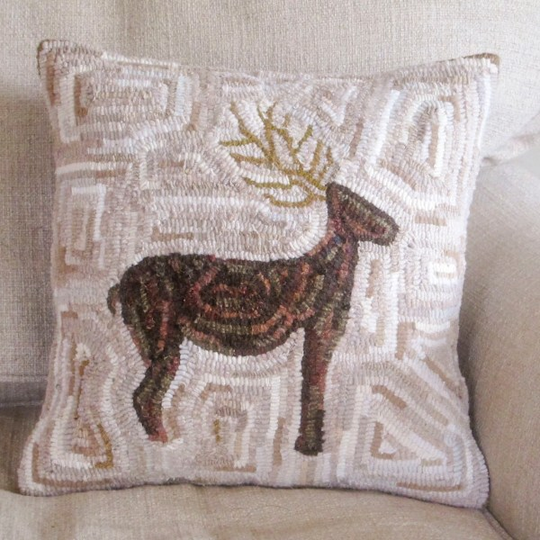 The Reindeer Hooked Pillow