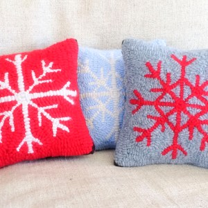 Cashmere Snowflake Pillows