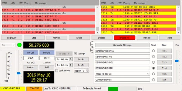 NE4RD and K5ND on JT65