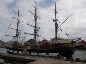 19th century wooden sailing vessel, the Jeannie Johnson