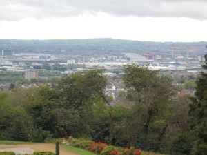 View into town from Belfast Castle.