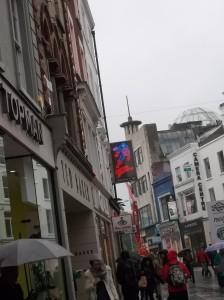 Rainy Grafton Street.