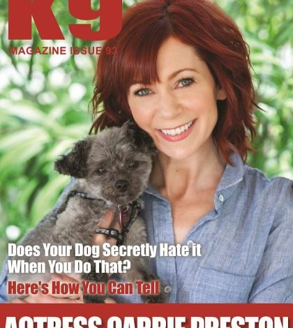 K9 Magazine Issue 93 Cover - Carrie Preston (LR)