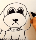 learn to draw a cartoon dog in 120 seconds
