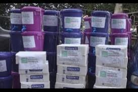 Dabola-Santé: La Fédération Denkadi offre des kits de lavage des mains aux Maîtres d'écoles coraniques