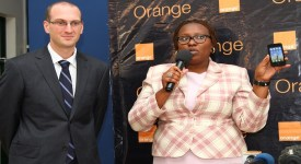 Vincent Camadro Chief Marketing & strategy officer and Viginia Waruinge Device manager.
