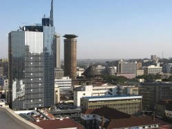 Nairobi city under the late afternoon sun.