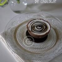Demi sphere chocolat à la glace chocolat blanc