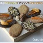 Recette des sablés aux fruits secs chocolat et mandarine confite pour culino versions
