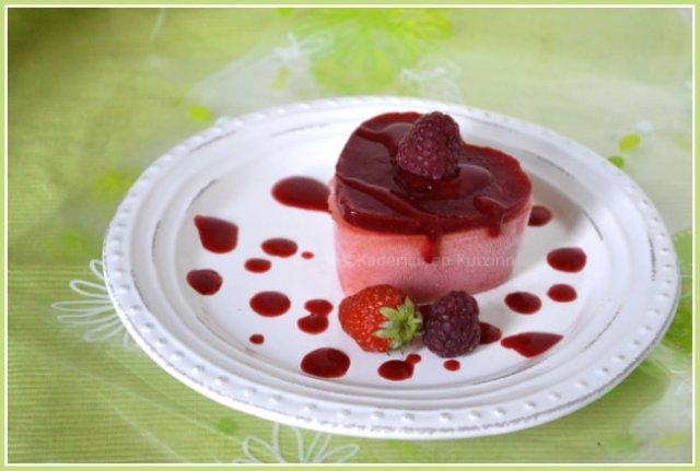 sorbet p 234 che et coulis fraise framboise