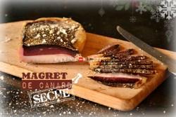 Recette magret de canard séché au poivre, thym et piment d'Espelette - recette de Fêtes et Noël