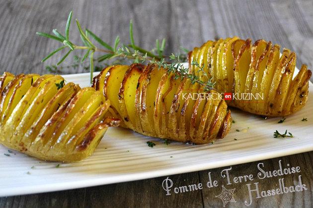 Hasselback pomme de terre suédoise pour accompagner viande ou poisson