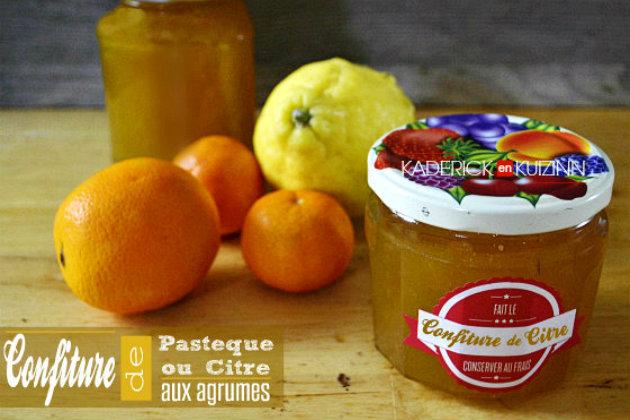 Confiture de citre - Recette confiture pastèque aux agrumes