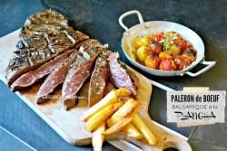 Paleron boeuf - Paleron mariné balsamique grillé à la plancha