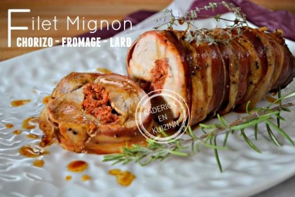 Filet porc filet mignon porc farci chorizo fromage - Cuisiner un filet mignon de porc au four ...
