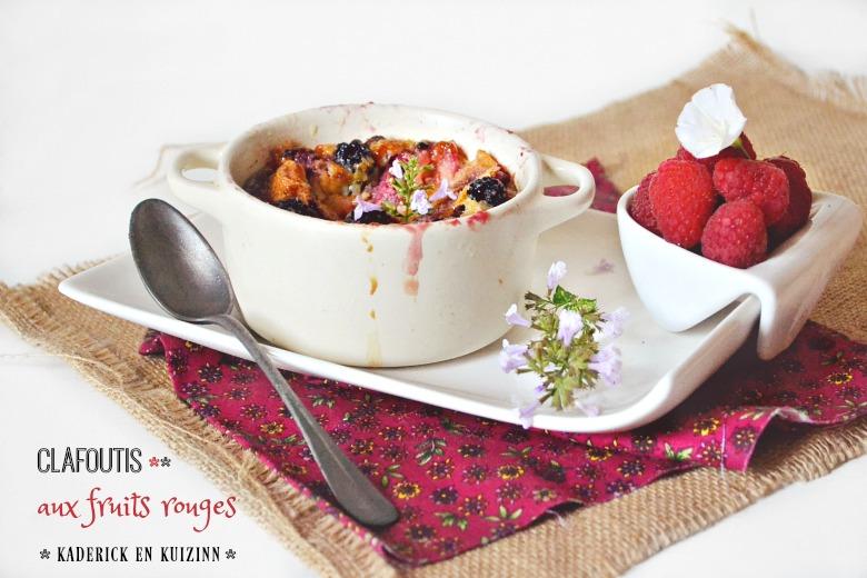 Clafoutis fruits rouges aux mûres et framboises