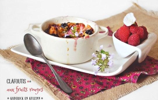 Clafoutis fruits rouges mures framboises - Kaderick en Kuizinn