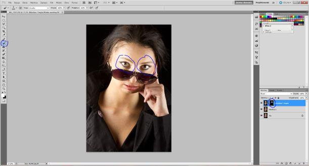 Rozjaśnianie oczu w programie Adobe Photoshop