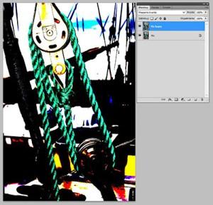 Tryb mieszania warstw Photoshopie - Hard Mix (Mieszanie twarde)