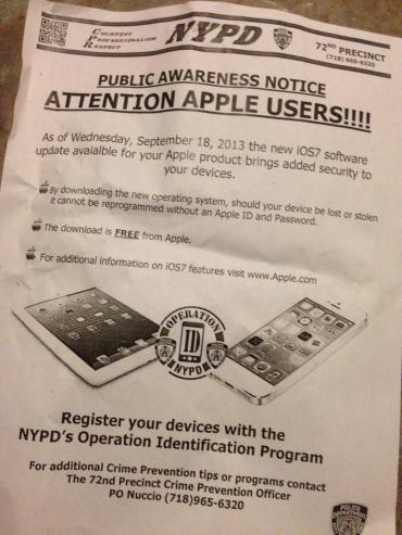 iOS 7 NYPD