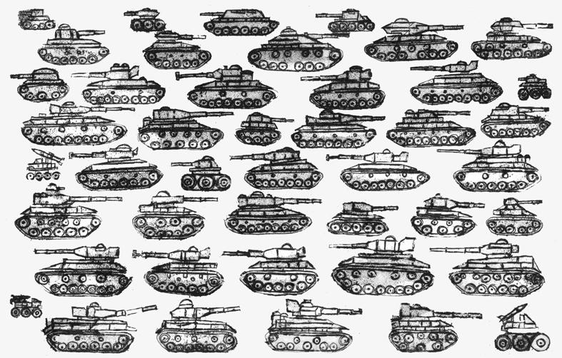 Paolo Ferro, carri armati