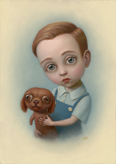 marion peck boy with a puppy