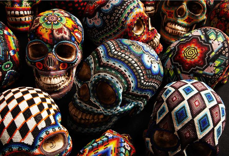 huichol skulls by our exQuisite corpse