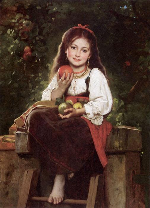 Leon_Bazile_Perrault_the apple picker 1879
