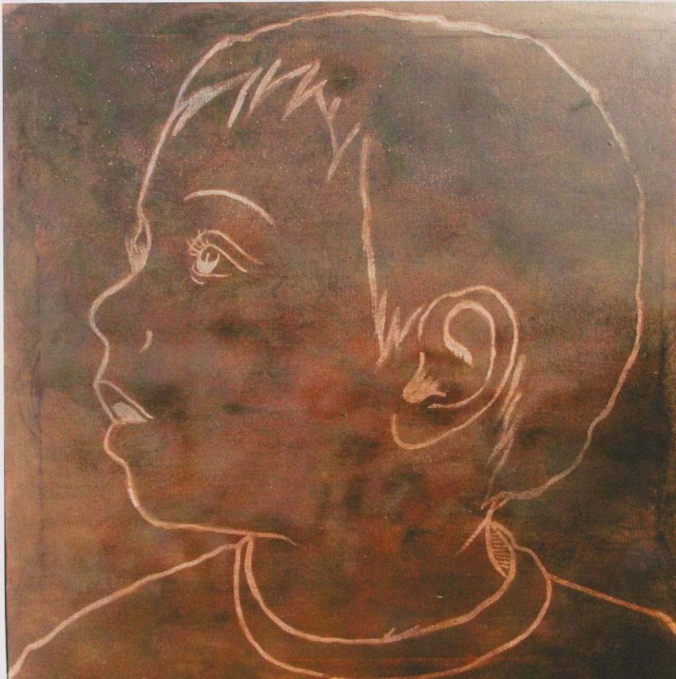 Andrea Paganini, Dario, 100x100, 2003