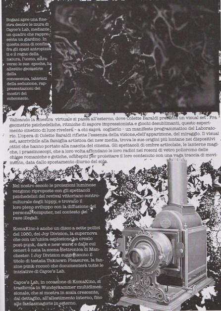 Fanzine Unkown Pleasures, numero zero, Komakino, grafiche Francesca De Paolis, 3