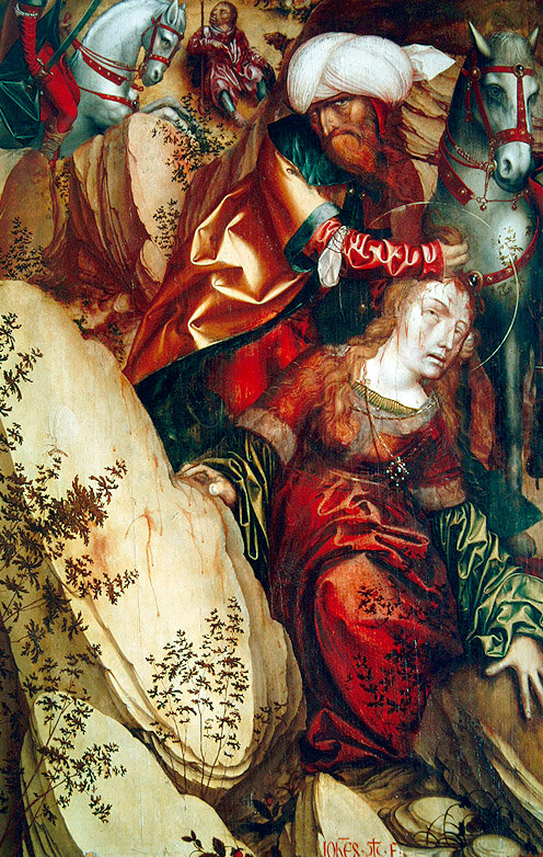 The Martyrdom of Saint Barbara, hans fries