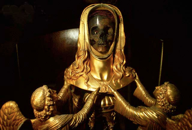 mary-magdalene-skull-reliquary, St. Maximin in France