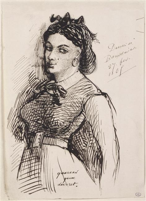 Jeanne_Duval disegnata da Baudelaire