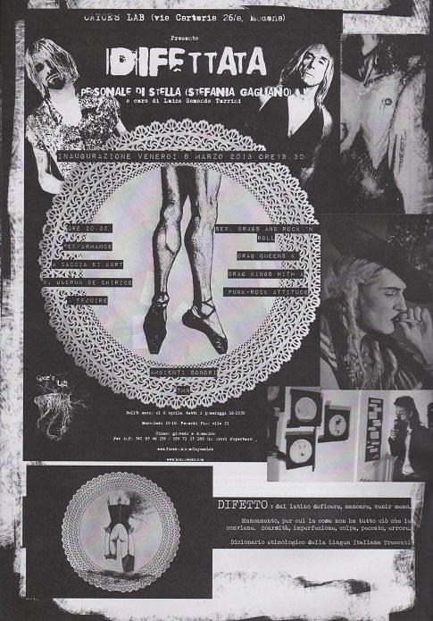 Fanzine Unknown Pleasures, numero 1, Difettata, grafiche Valentina Mangieri, direz.art.LST,
