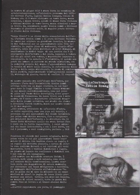 Fanzine Unkown Pleasures, numero uno, apprendistato vita invisibile, grafiche Valentina Mangieri, direz. art. LST