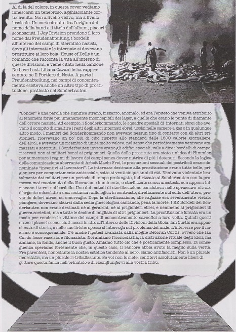 Fanzine Unknown Pleasures, numero zero, UP, grafiche Francesca De Paolis,2