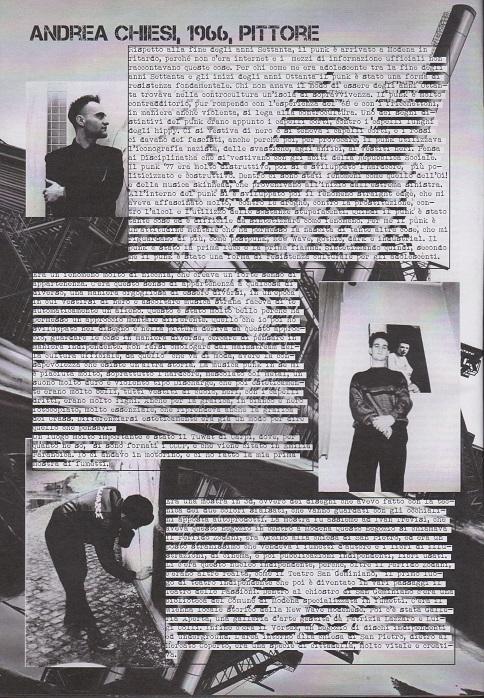 Fanzine Unknown Pleasures numero uno, Tu Quoque Punk - Andrea Chiesi, grafiche Valentina Mangieri, direz.artistica LST.