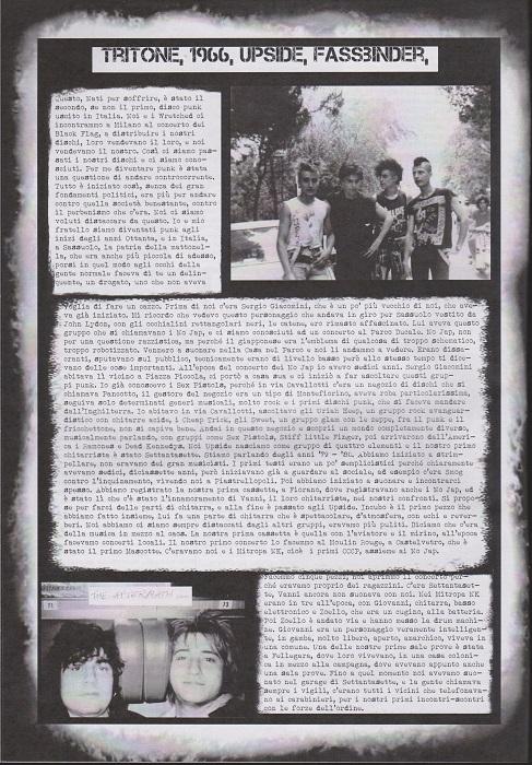 Fanzine Unknown Pleasures numero uno, Tu Quoque Punk - Tritone, grafiche Valentina Mangieri, direz.artistica LST