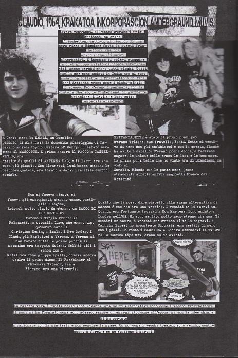 Fanzine Unknown Pleasures numero uno, Tu Quoque Punk - claudio, grafiche Valentina Mangieri, direz.artistica LST