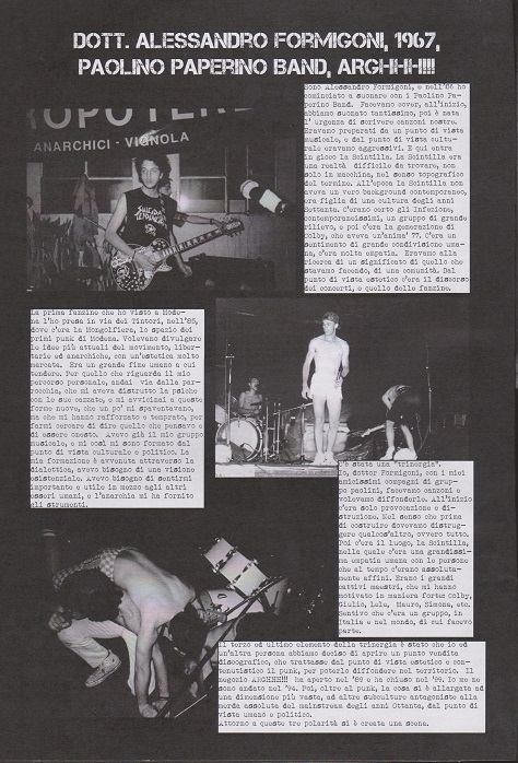 Fanzine Unknown Pleasures numero uno, Tu Quoque Punk - fox1, grafiche Valentina Mangieri, direz.artistica LST