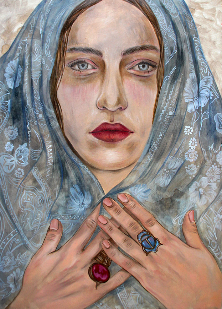 Martina Corradi, Vassilissa, olio su tela.