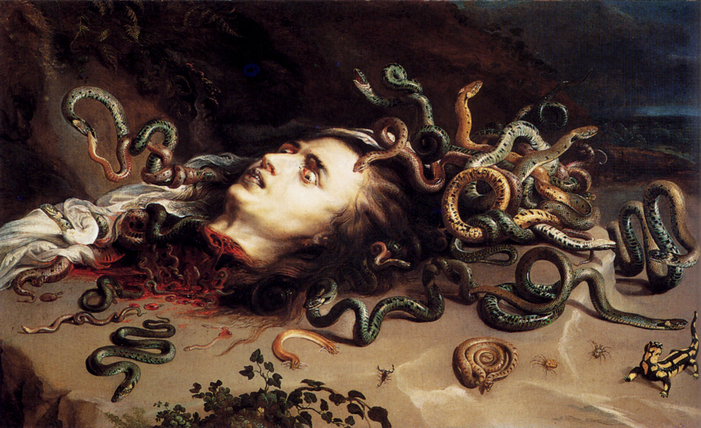 Head of Medusa, Peter Paul Rubens, c. 1617-18, oil on canvas