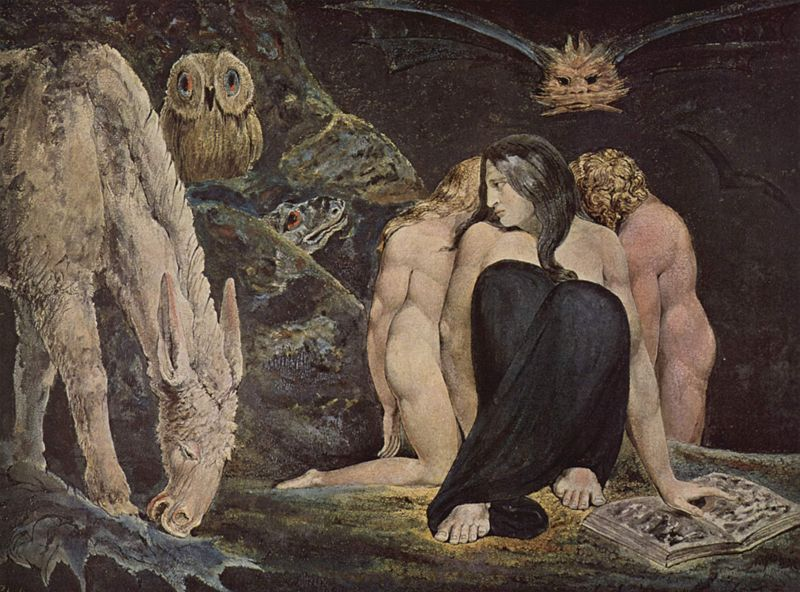 William Blake, The Night of Enitharmon's Joy (Hecate)