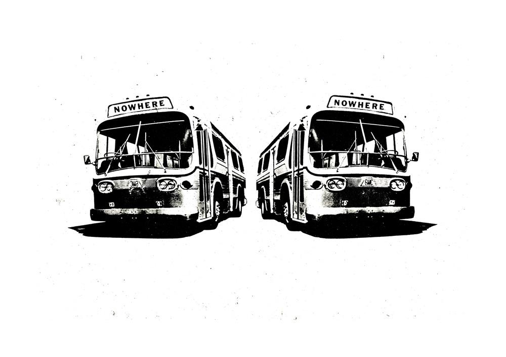 Jamie Reid, Nowhere buses, 1972