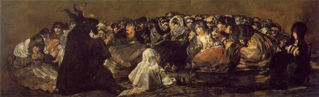 goya, il sabba delle streghe, 1818