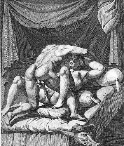 Agostino Carracci, Aretino o gli amori degli dei, Ovid et Corine. 1602